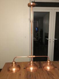 3-Light Bar Pendant Light - Copper Metal