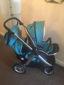 Oysters max 2 pram with ocean blue colour pack