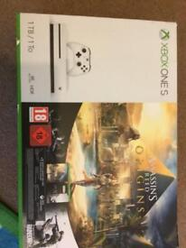 Xbox one s 1 tb asasin creed origins plus 1games