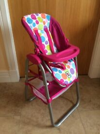 ** Excellent Condition ** - Bayer Chic Play Set - Car Seat, Carry Strap, High Chair & Ironing Board