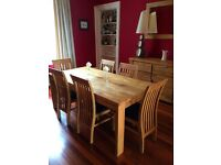 Solid oak dining furniture for sale
