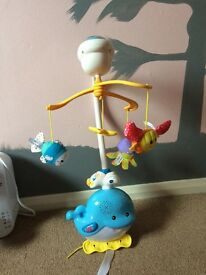 Sea themed cot mobile