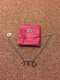 D & G bracelet and necklace set