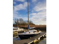 23ft Sailing Boat - Crystal 23 - excellent condition - Norfolk Broads