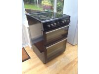 Stoves 60cm Black Double electric cooker
