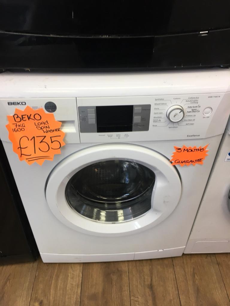 BEKO 7KG DIGITAL SCREEN WASHING MACHINE IN WHITE