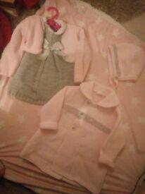 Baby girls Spanish dress cardigan hat and jacket set