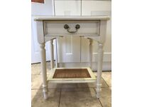 Laura Ashley Clifton Cream 1 Drawer Bedside Cabinet / Lamp Table