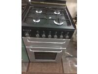 Black & silver flavel 55cm gas cooker grill & oven good condition with guarantee bargain