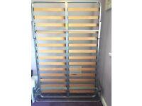 Space saving bed frame