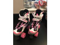 Girls rolller skates boots size extends 1-3 as new condition