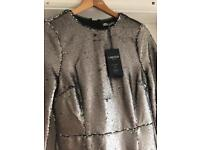 Marks & Spencer silver Sequinned dress NEW size 8 - Christmas Party 🎉