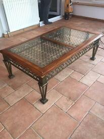 Large Cast Iron vintage coffee table