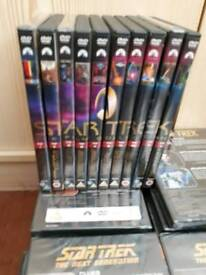Star trek the next generation series DVD collection.