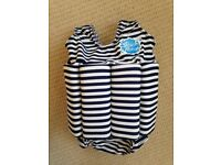 Navy & White Striped Floatsuit (size 2 - 4 years) - only £10