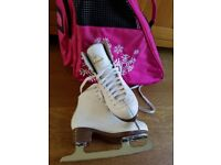 Girls ice skating boots size 13