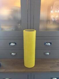 Bright Yellow Floor Vase