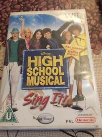 Wii game - High School Musical Sing It