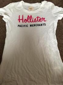 White hollister top medium