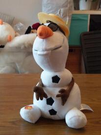frozen toys/singing olaf & soft toy sven