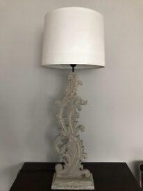 Designer carved wooden lamp