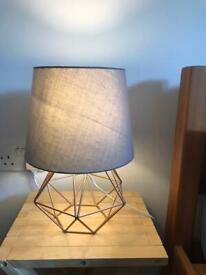2 grey lamp shades 19 cm