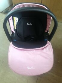 Girls silver cross car seat and changing bag