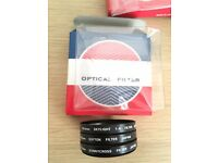 Camera Lens Filters 40.5mm x3 (Skylight, Diffusion & Cross Screen)
