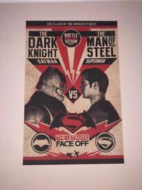 Batman vs superman wall art X3