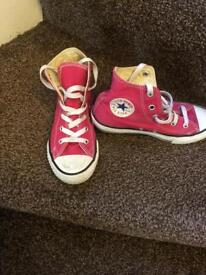 Converse trainers girls size 1