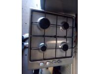 Curry's stainless steel 4 burner hob