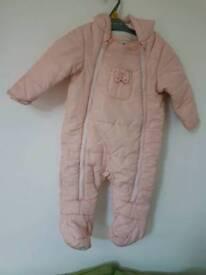 Baby girl warm suit snow suit