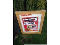 ##lockable advertising board##