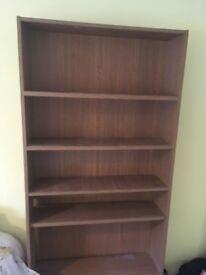 Oak veneer tall bookshelf
