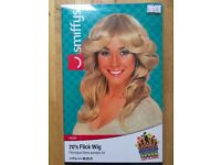 Blonde 70's Layered Flick Wig