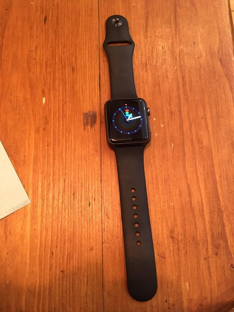Apple watch 42mm 42 mm series 1in West End, LondonGumtree - Apple watch 42mm (the bigger one) blackFirst generationBarely used Comes with charger and the 2 bandaCash on collection In covent garden