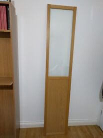 Ikea Oxberg half panel half glass door in oak to fit Billy unit