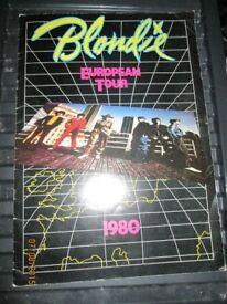 BLONDIE/ DEBBIE HARRY 1980 EUROPEAN TOUR PROGRAMME LOTS OF PICTURES