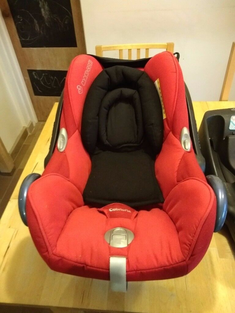 Maxi Cosi Cabriofix Infant Car Seat And Two Easyfix2 Base Units
