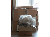 60+ good quality cardboard boxes & packing supplies - perfect for 1 bed house move