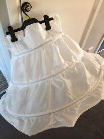 Girls full length hooped underskirt / petticoat