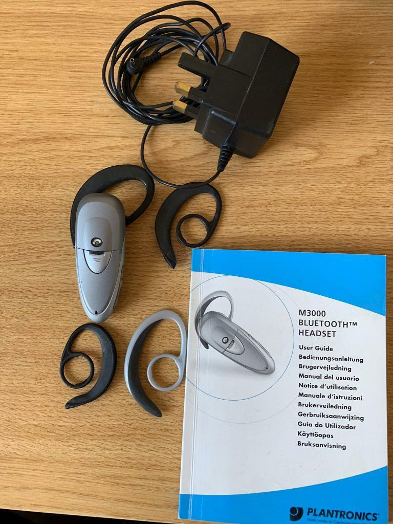 Plantronics M3000 Bluetooth Headset for ear very good condition   in  Seaham, County Durham   Gumtree