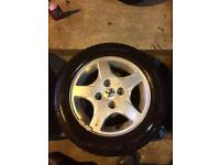 14 inch peugeot 206 alloy wheels with 175/65/14 tyres