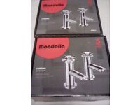 Brand New Mondella Arena Chrome Bath & Basin Taps Set cost £140