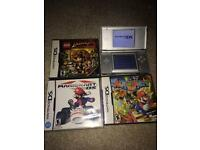 Silver Ds lite Nintendo bundle