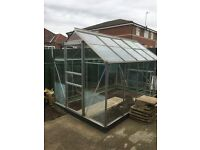 GREENHOUSE 10ftx6ft Aluminium frame With BASE £60.00