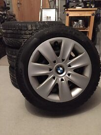 BMW steel wheels with Pirelli winter tyres (205/55 R16)