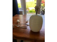 White ceramic lamp base