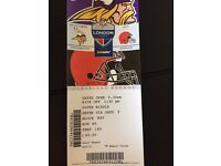2017 NFL Ticket Minnesota Vikings at Cleveland Browns 29th October