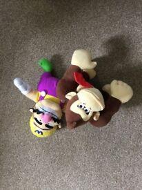 Wario and Donkey Kong soft toys
